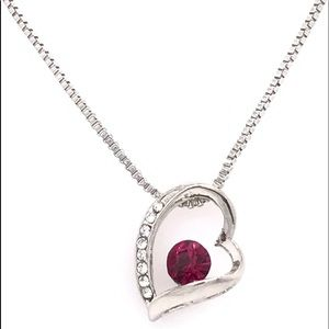 Modern Heart Swarovski Pendant